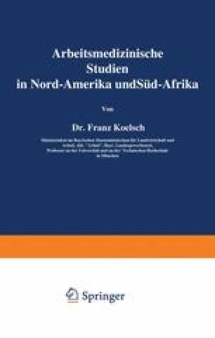Arbeitsmedizinische Studien in Nord-Amerika und Süd-Afrika