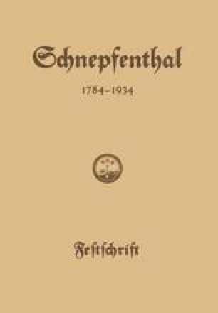 Die Erziehungsanstalt Schnepfenthal 1784–1934