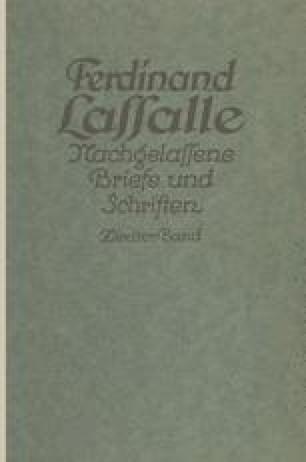Lassalles Briefwechsel von der Revolution 1848 bis zum Beginn seiner Arbeiteragitation