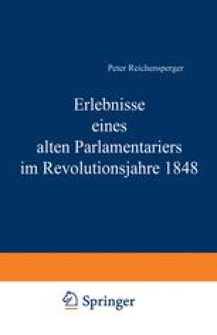Erlebnisse eines alten Parlamentariers im Revolutionsjahre 1848