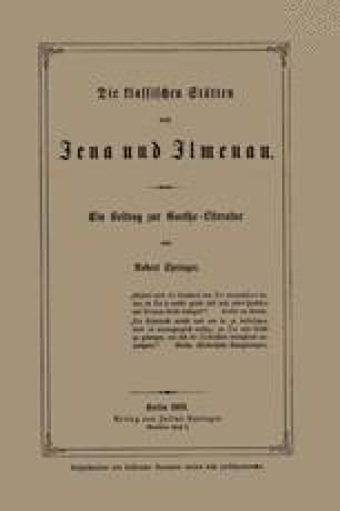 Die klassischen Stätten von Jena und Jlmenau