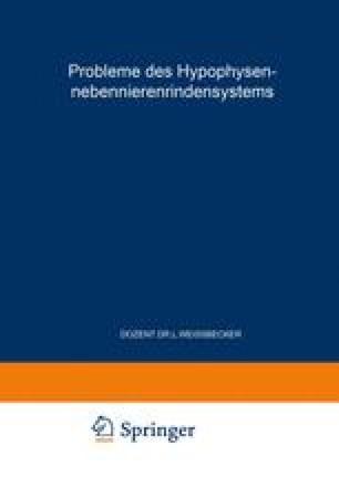 Probleme des Hypophysen-Nebennierenrindensystems