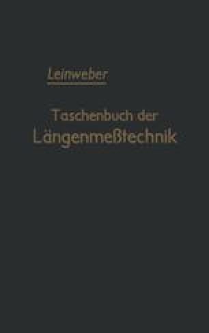 Taschenbuch der Längenmeßtechnik