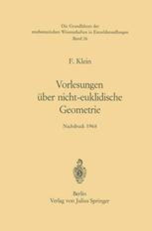 Vorlesungen über Nicht-Euklidische Geometrie