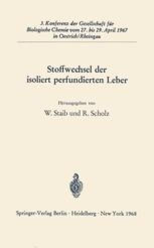 Stoffwechsel der isoliert perfundierten Leber