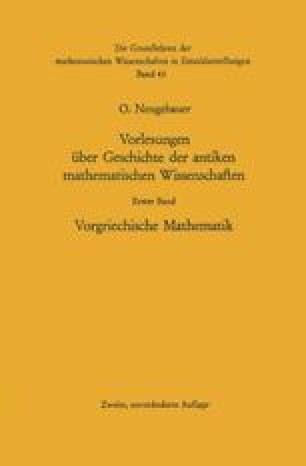 Vorlesungen über Geschichte der antiken mathematischen Wissenschaften