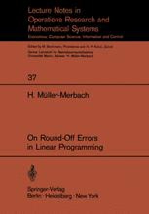 On Round-Off Errors in Linear Programming