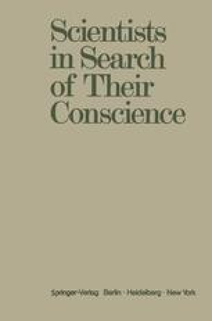 Scientists in Search of Their Conscience