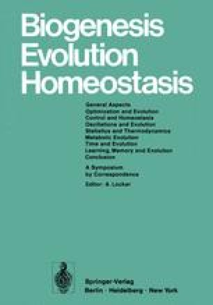 Biogenesis Evolution Homeostasis