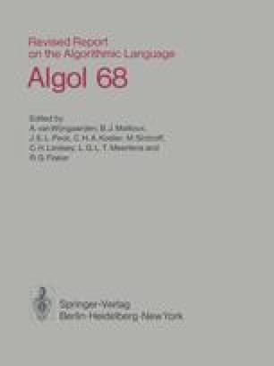 Revised Report on the Algorithmic Language Algol 68