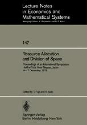 Resource Allocation and Division of Space