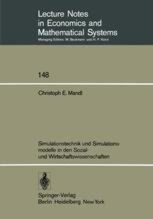 Simulationstechnik und Simulationsmodelle in den Sozial- und Wirtschaftswissenschaften