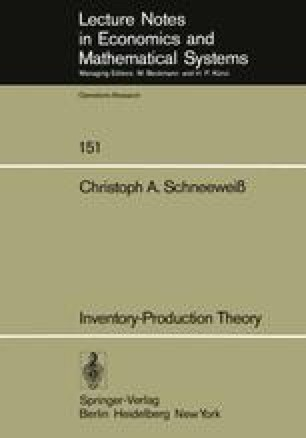 Inventory-Production Theory