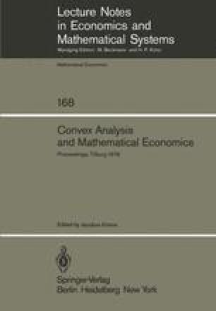 Convex Analysis and Mathematical Economics