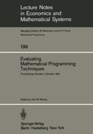 Evaluating Mathematical Programming Techniques