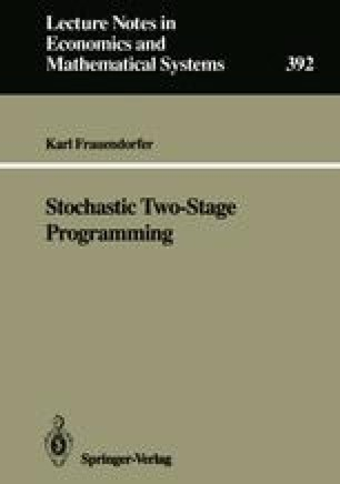 Stochastic Two-Stage Programming