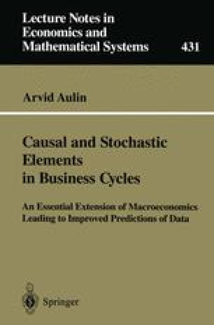 Causal and Stochastic Elements in Business Cycles
