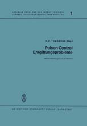 Poison Control Entgiftungsprobleme