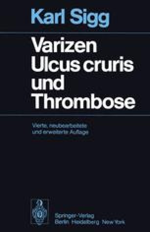 Varizen · Ulcus cruris und Thrombose