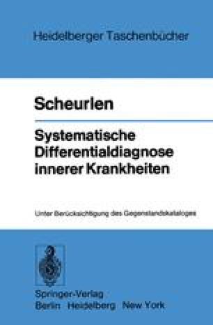 Systematische Differentialdiagnose innerer Krankheiten
