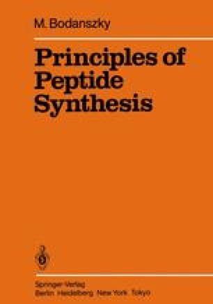 Principles of Peptide Synthesis