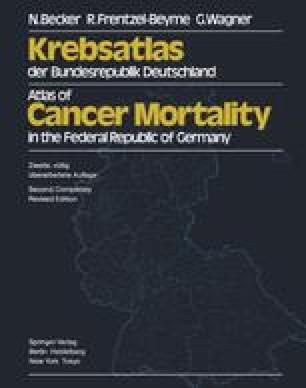 Krebsatlas der Bundesrepublik Deutschland / Atlas of Cancer Mortality in the Federal Republic of Germany