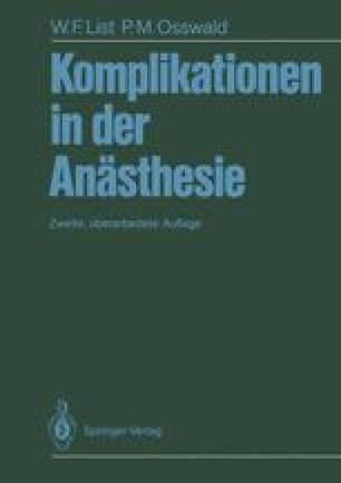 Komplikationen in der Anästhesie