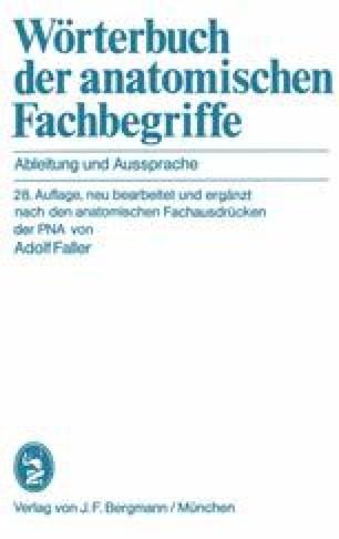 Wörterbuch der anatomischen Fachbegriffe