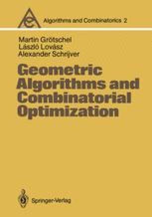 Geometric Algorithms and Combinatorial Optimization