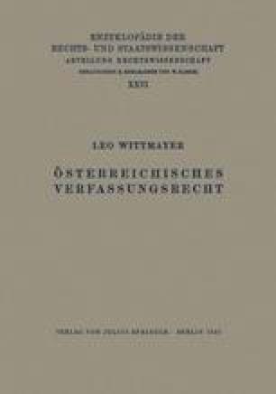 Österreichisches Verfassungsrecht