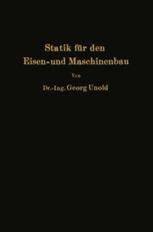 Statik für den Eisen- und Maschinenbau