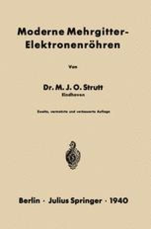 Moderne Mehrgitter-Elektronenröhren