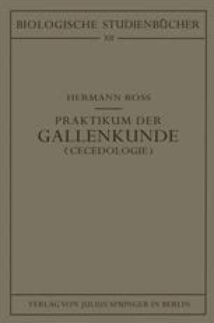 Praktikum der Gallenkunde <Cecidologie>