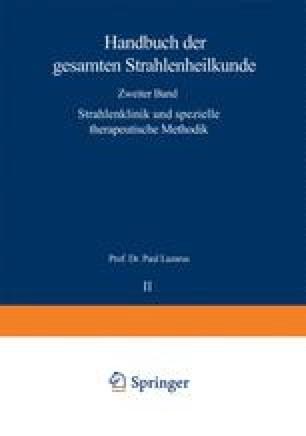 Strahlenklinik und spezielle therapeutische Methodik