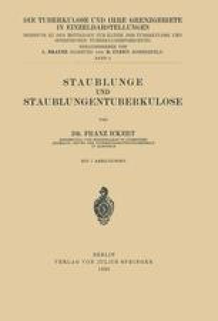 Staublunge und Staublungentuberkulose