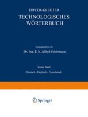 Technologisches Wörterbuch