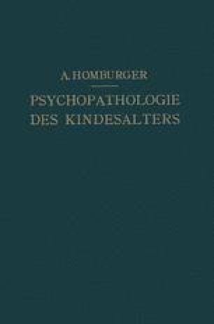 Vorlesungen über Psychopathologie des Kindesalters