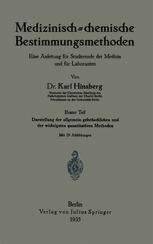 Medizinisch-chemische Bestimmungsmethoden
