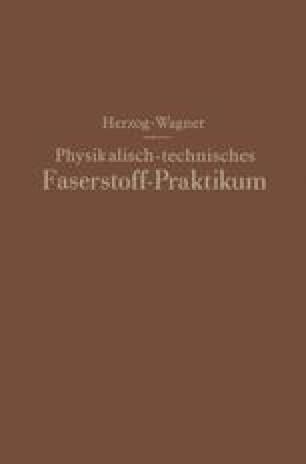 Physikalisch-technisches Faserstoff — Praktikum