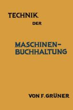 Technik der Maschinen-Buchhaltung
