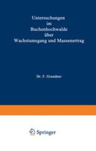 Untersuchungen im Buchenhochwalde über Wachstumsgang und Massenertrag