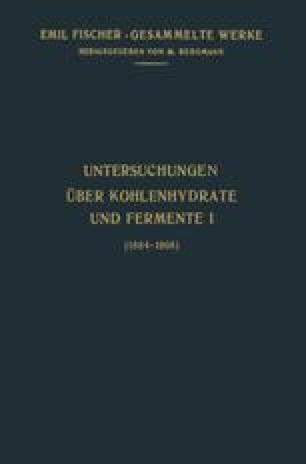 Untersuchungen Über Kohlenhydrate und Fermente (1884–1908)