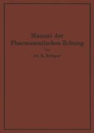 Manual der Pharmazeutischen Zeitung