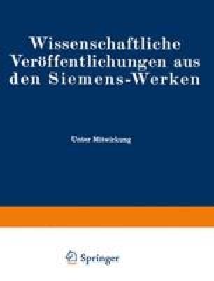 Wissenschaftliche Veröffentlichungen aus den Siemens-Werken