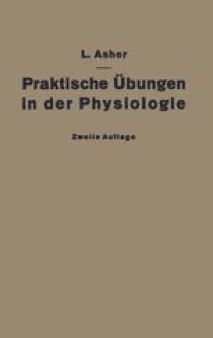 Praktische Übungen in der Physiologie