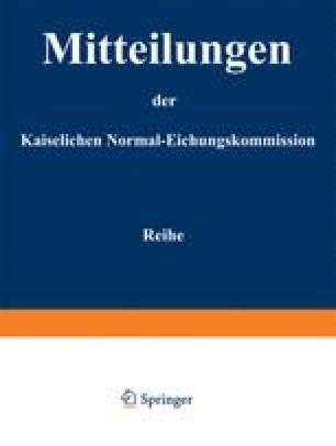 Mitteilungen der kaiserlichen Normal-Eichungskommission