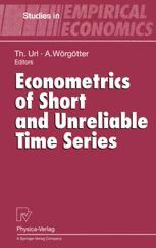 Econometrics of Short and Unreliable Time Series
