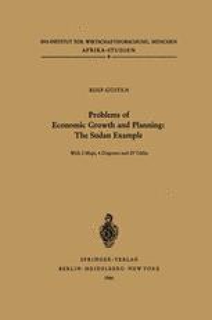 Problems of Economic Growth and Planning: The Sudan Example