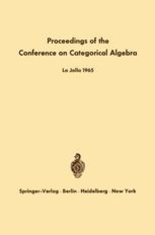 Proceedings of the Conference on Categorical Algebra