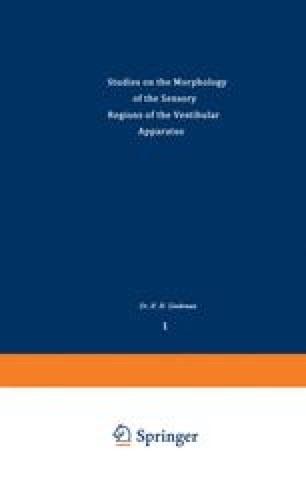 Studies on the Morphology of the Sensory Regions of the Vestibular Apparatus